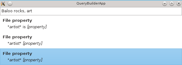 KF5 Query builder widget