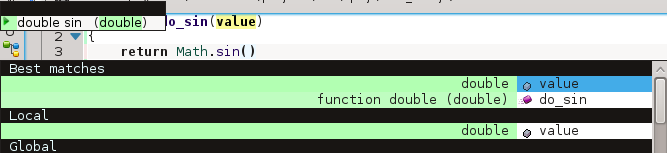 Code-completion for Math