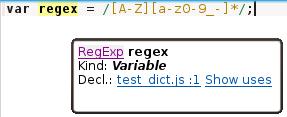 The RegExp type