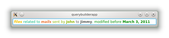 Query builder widget