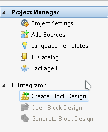 IP Integrator button