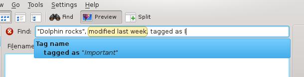 The query builder widget