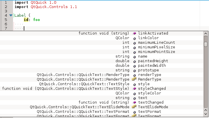 Properties available in a QML component