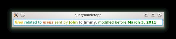 Query builder widget