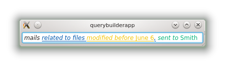 Underlining of nested queries